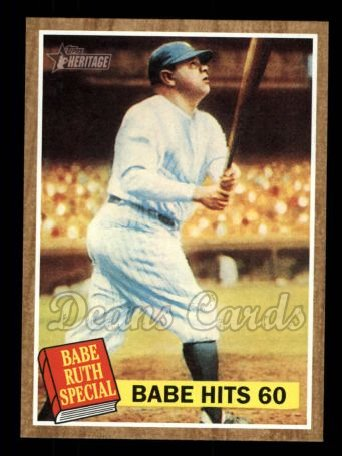 2011 Topps Heritage #139 A Babe Hits 60  -  Babe Ruth